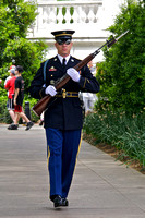 Relieving Guard making his way to the Tomb of the Unknowns.