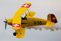 View of Jerry Wells piloting his Pitts biplane