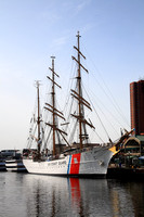 USCG Barque Eagle at Baltimore Inner Harbor