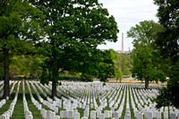 View of the Washington Monument from Arlington National Cemetery