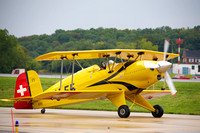 Jerry Wells taxiing in his Pitts biplane