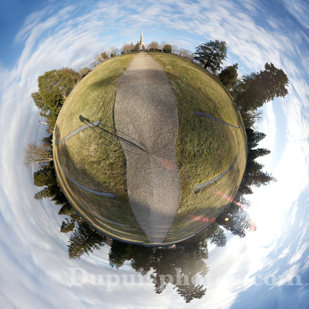 A different interpretation of a 360 degree panorama shot in the Gettysburg National Cemetery