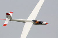 View of Paul Jennings piloting his Swift S-1